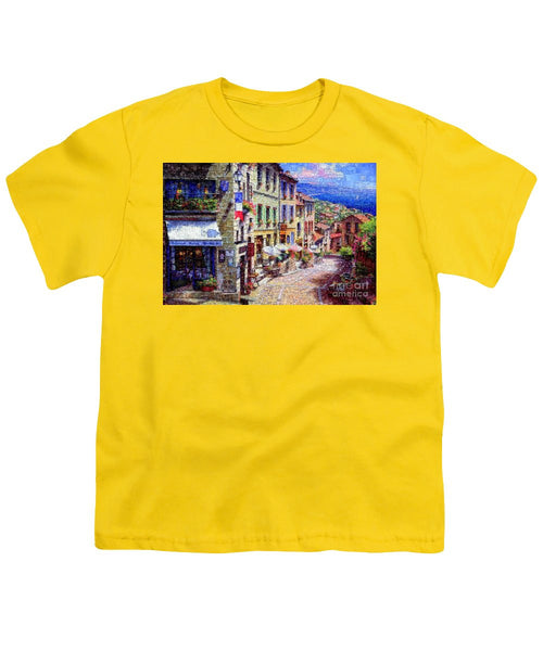 Youth T-Shirt - Quaint Streets From Nice France.