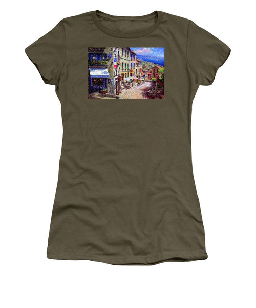 Women's T-Shirt (Junior Cut) - Quaint Streets From Nice France.