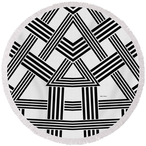 Rafters - Round Beach Towel