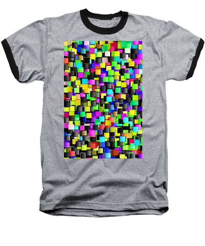 Rainbow Checkers - Baseball T-Shirt
