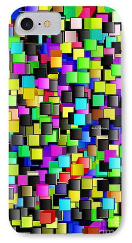 Rainbow Checkers - Phone Case