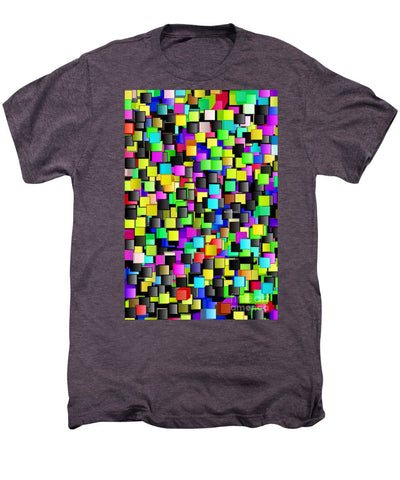 Rainbow Checkers - Men's Premium T-Shirt