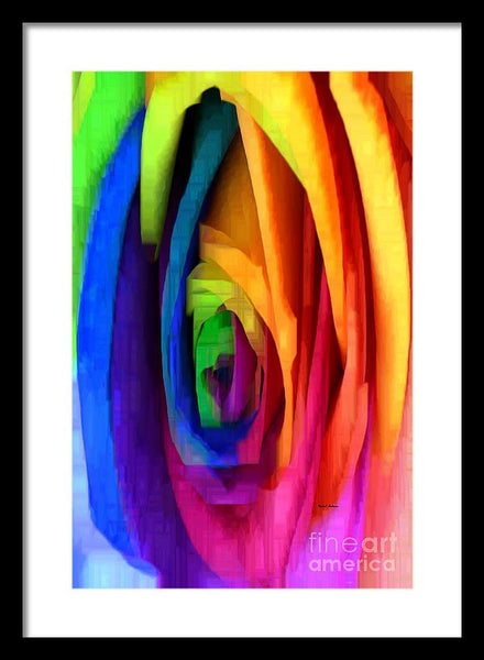 Framed Print - Rainbow Rose