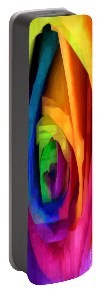 Portable Battery Charger - Rainbow Rose