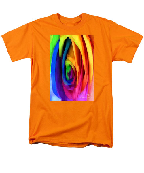 Men's T-Shirt  (Regular Fit) - Rainbow Rose