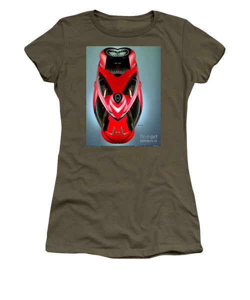 Women's T-Shirt (Junior Cut) - Red Car 006