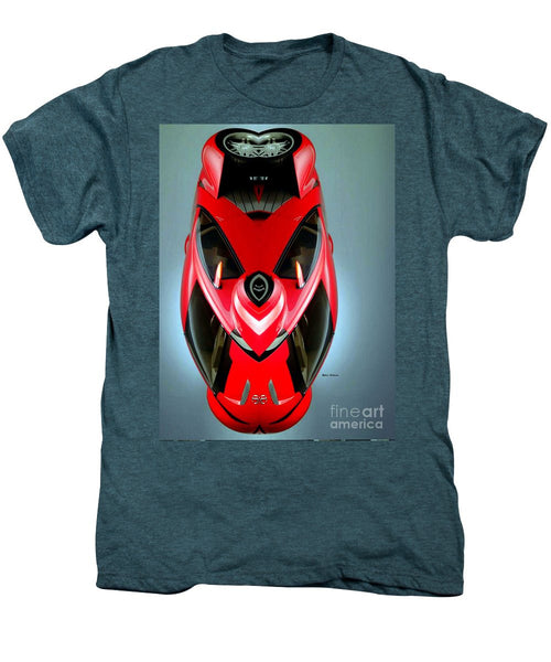 Men's Premium T-Shirt - Red Car 006