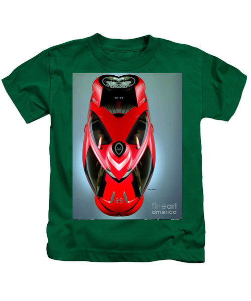 Kids T-Shirt - Red Car 006