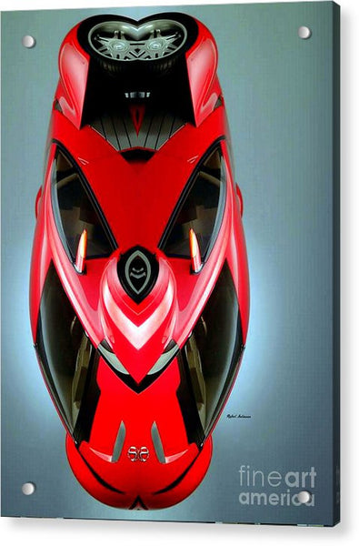 Acrylic Print - Red Car 006