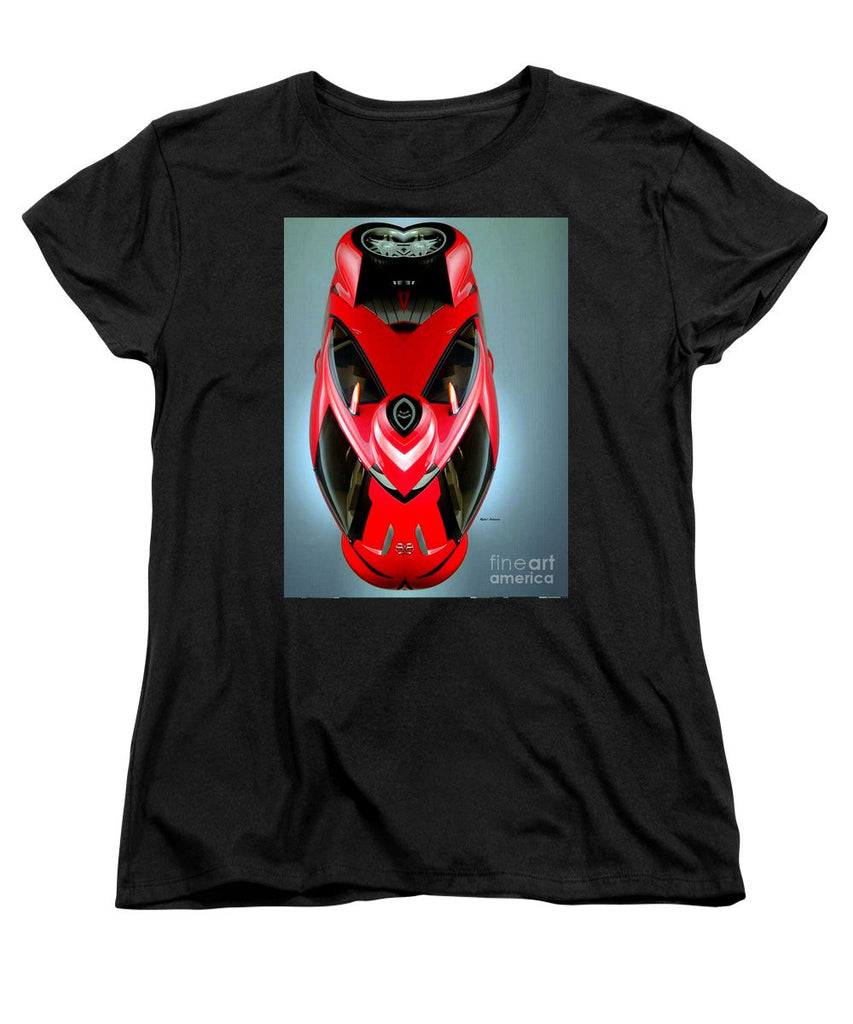Women's T-Shirt (Standard Cut) - Red Car 006