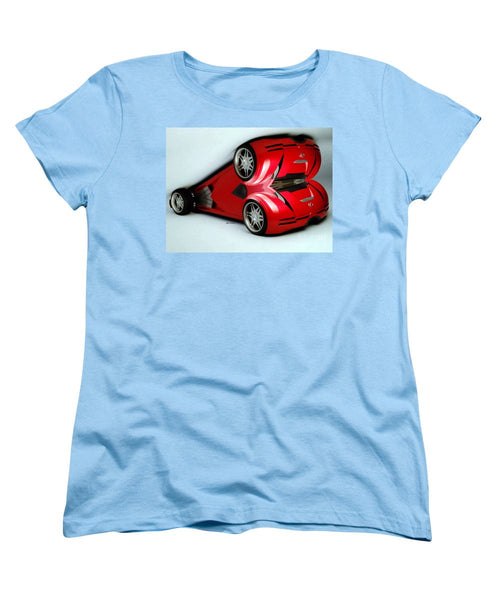 Women's T-Shirt (Standard Cut) - Red Car 007