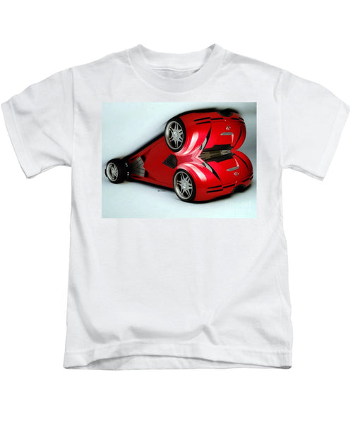 Kids T-Shirt - Red Car 007