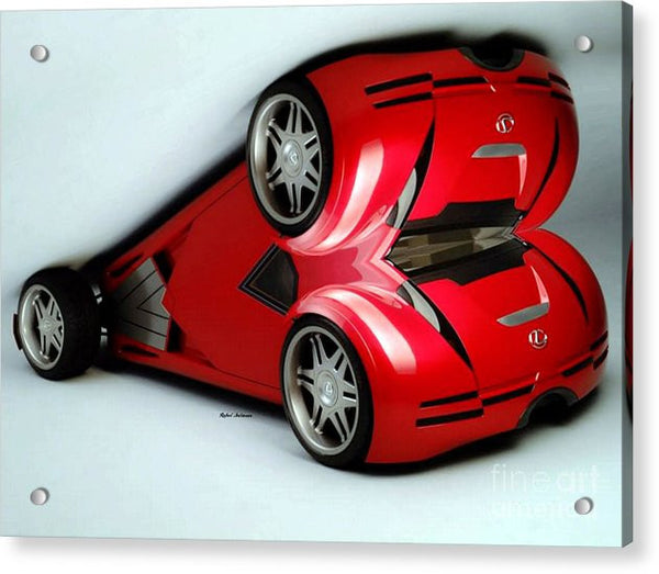 Acrylic Print - Red Car 007