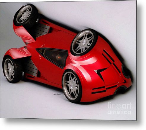 Metal Print - Red Car 009