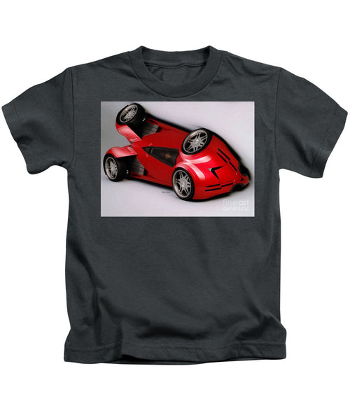 Kids T-Shirt - Red Car 009