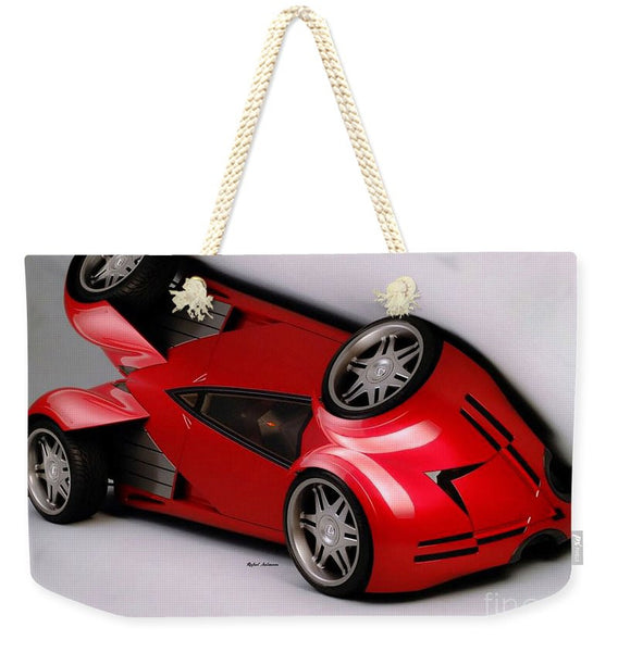 Weekender Tote Bag - Red Car 009