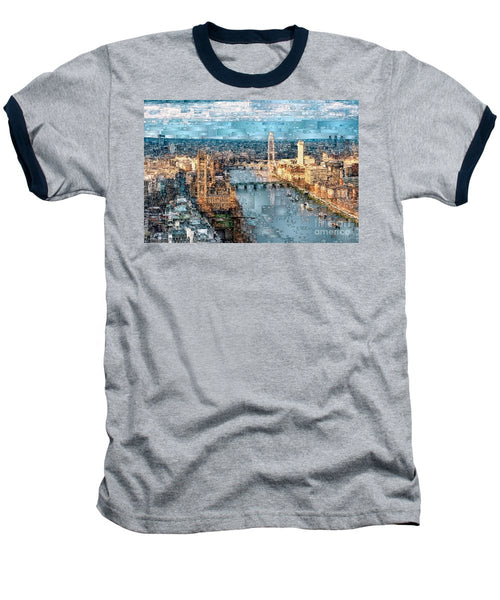 Baseball T-Shirt - River Thames In London, England