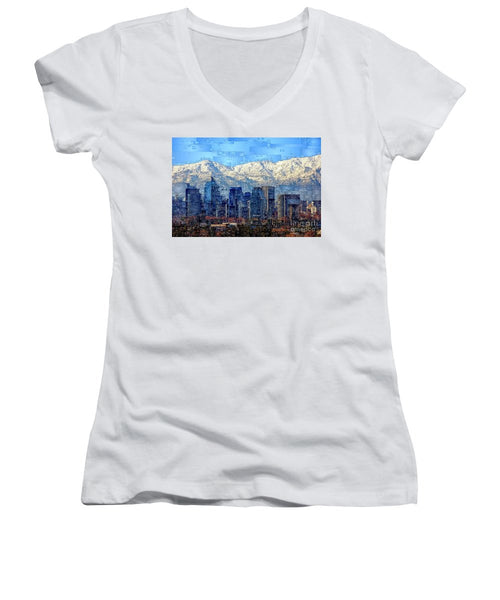 Women's V-Neck T-Shirt (Junior Cut) - Santiago De Chile, Chile
