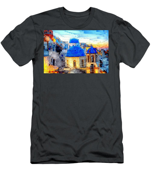 Men's T-Shirt (Slim Fit) - Santorini Island, Greece