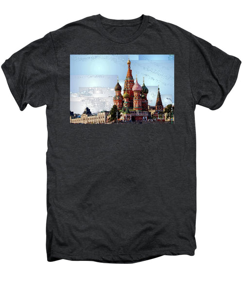 Men's Premium T-Shirt - St. Basil's Cathedral In Moscow