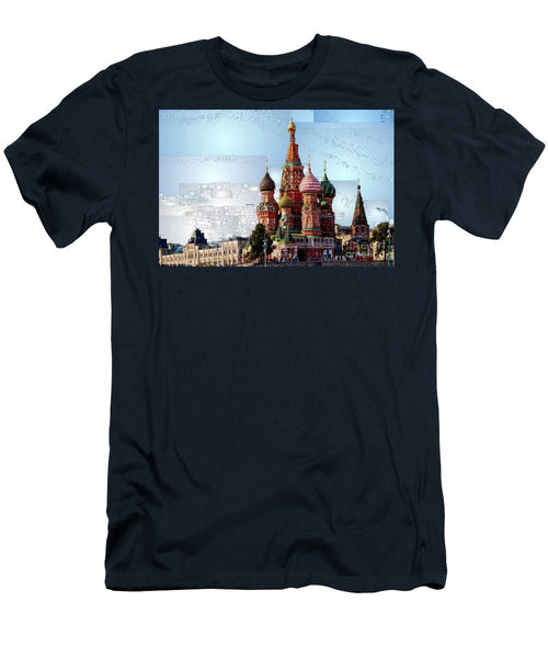 Men's T-Shirt (Slim Fit) - St. Basil's Cathedral In Moscow