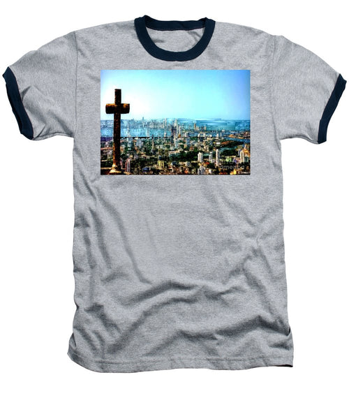 Baseball T-Shirt - Stone Cross In Cartagena Colombia
