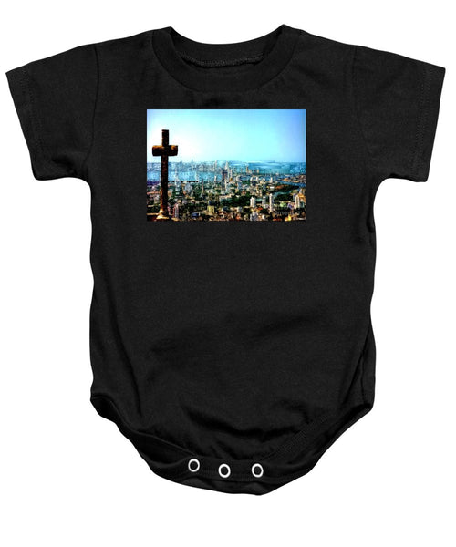 Baby Onesie - Stone Cross In Cartagena Colombia