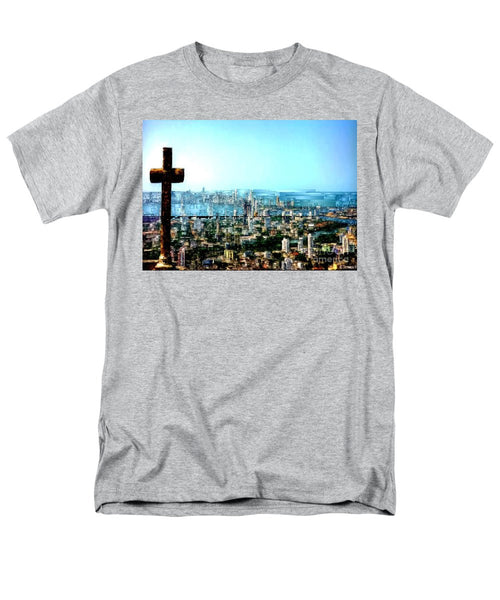 Men's T-Shirt  (Regular Fit) - Stone Cross In Cartagena Colombia