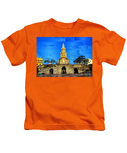 Kids T-Shirt - The Gate And Clock Tower In Cartagena Colombia