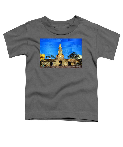 Toddler T-Shirt - The Gate And Clock Tower In Cartagena Colombia