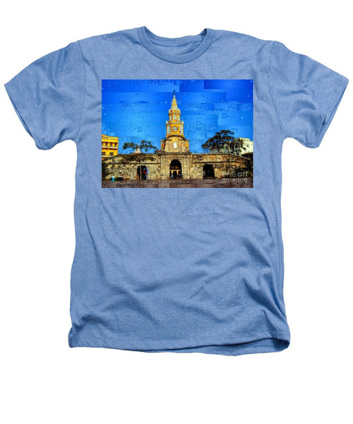 Heathers T-Shirt - The Gate And Clock Tower In Cartagena Colombia