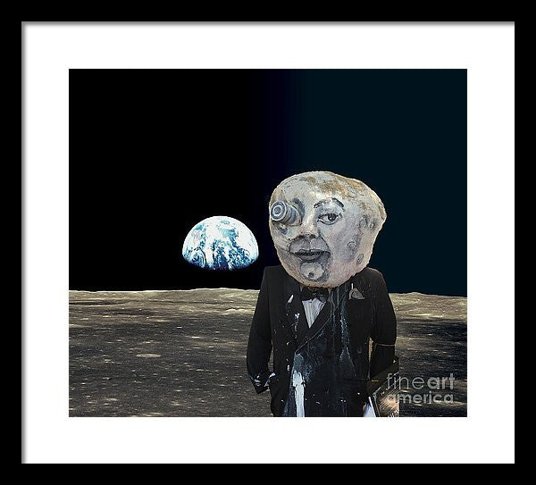 Framed Print - The Man In The Moon