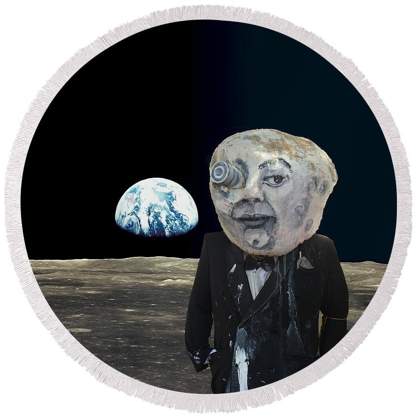 Round Beach Towel - The Man In The Moon
