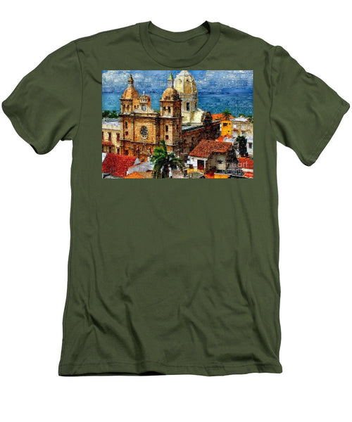 Men's T-Shirt (Slim Fit) - The Walled City In Cartagena De Indias Colombia