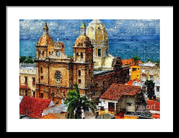 Framed Print - The Walled City In Cartagena De Indias Colombia