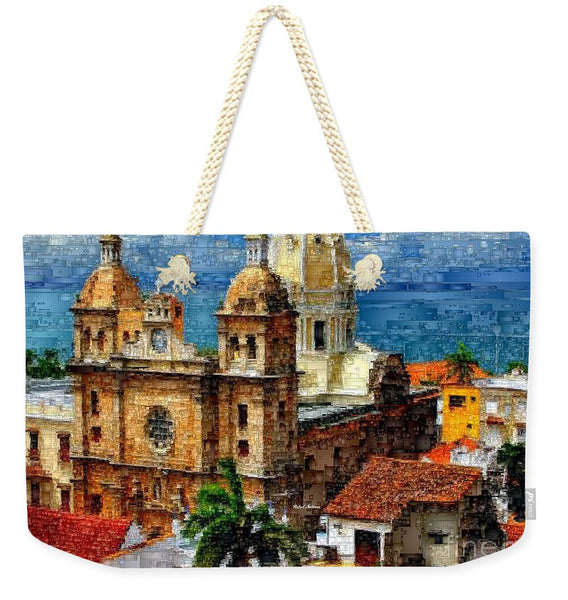 Weekender Tote Bag - The Walled City In Cartagena De Indias Colombia