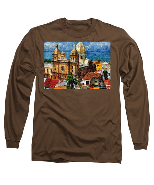 Long Sleeve T-Shirt - The Walled City In Cartagena De Indias Colombia