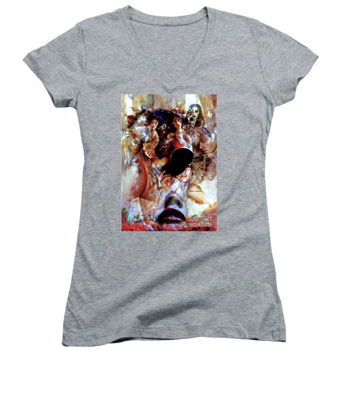 Women's V-Neck T-Shirt (Junior Cut) - Thru The Times
