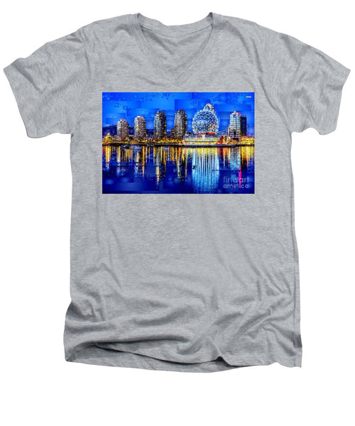Men's V-Neck T-Shirt - Vancouver British Columbia Canada
