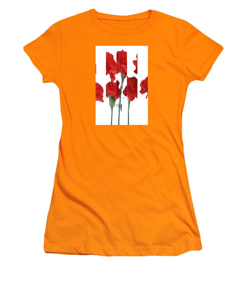 Women's T-Shirt (Junior Cut) - Vertical Flowers