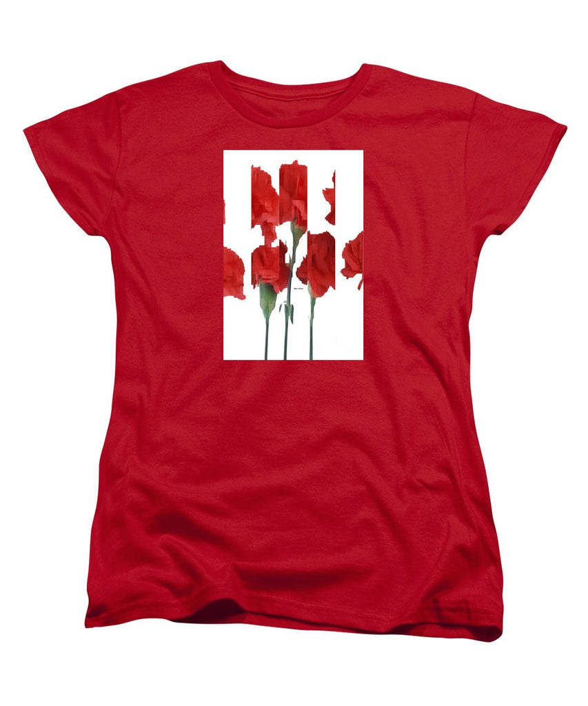 Women's T-Shirt (Standard Cut) - Vertical Flowers