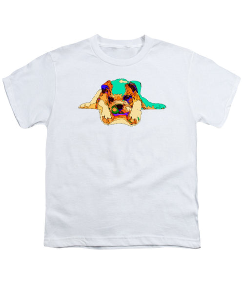 Youth T-Shirt - Waiting For You. Dog Series