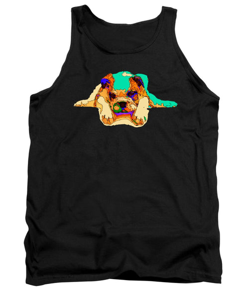 Tank Top - Waiting For You. Dog Series