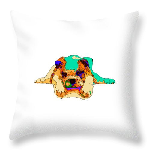 Throw Pillow - Waiting For You. Dog Series