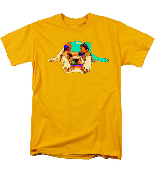 Men's T-Shirt  (Regular Fit) - Waiting For You. Dog Series