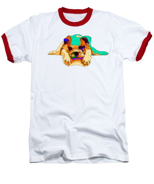 Baseball T-Shirt - Waiting For You. Dog Series