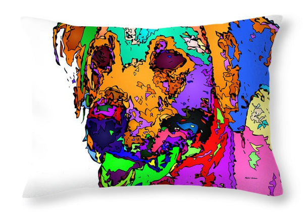 Throw Pillow - Want To Go For A Walk. Pet Series