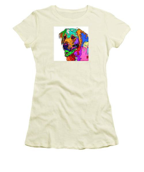 Women's T-Shirt (Junior Cut) - Want To Go For A Walk. Pet Series