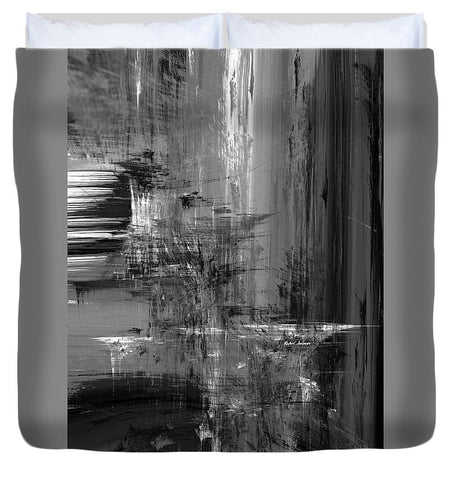 Duvet Cover - Waterfall In Black And White