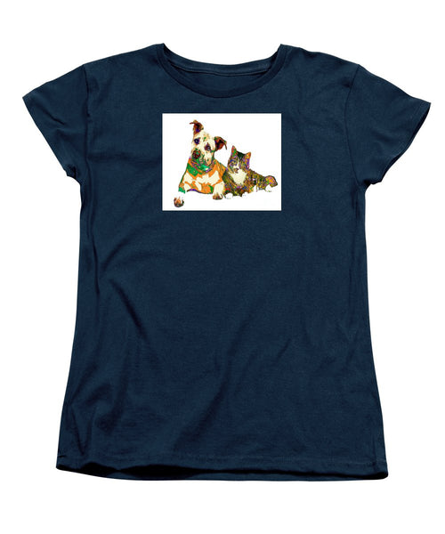 Women's T-Shirt (Standard Cut) - We Make People Happy For A Living. Pet Series
